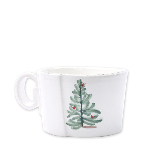 "Vietri Lastra Holiday Jumbo Cup  LAH-2611 4.75""D, 325""H  Make time for your loved ones this season when you gather around the cheerful design of Vietri's Lastra Holiday from plumpuddingkitchen.com!"