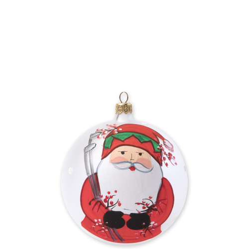"Vietri Old St Nick Golfing Ornament  OSN-2718 4""D  What could be more whimsical than the individual portraits of Vietri's Old St. Nick from plumpuddingkitchen.com!"