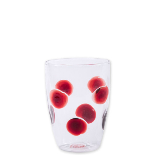 "Vietri Drop Red Tall Tumbler  DRP-5438R 4.5""H, 12oz  The contemporary shape of the Vietri Red Glass from plumpuddingkitchen.com translates into a casual everyday glass in the Drop Tall Tumbler. Mouthblown in Veneto, dress up every dining experience with the beautiful simplicity of this classic collection."
