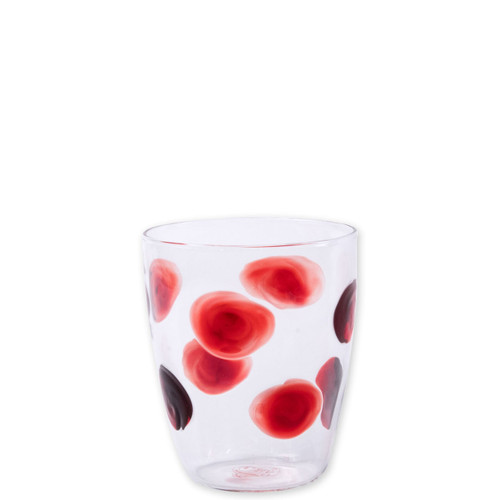 "Vietri Drop Red Short Tumbler  DRP-5437R 4""H, 10oz  The contemporary shape of the Vietri Drop Red Wine Glass from plumpuddingkitchen.com translates into a casual everyday glass in the Drop Short Tumbler. Mouthblown in Veneto, dress up every dining experience with the beautiful simplicity of this classic collection."