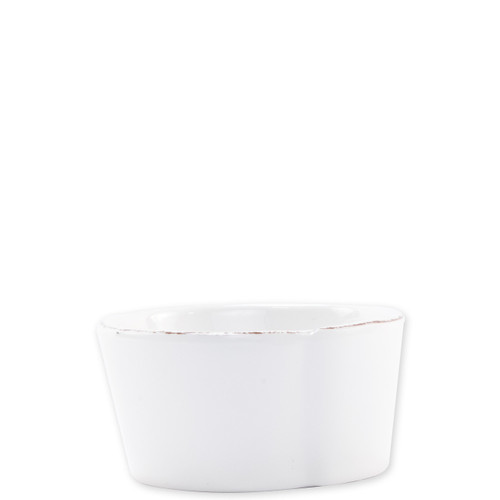 "Vietri Melamine Lastra Condiment Bowl  MLAS-W23070 4""D  Lastra's unique silhouettes and rustic elements take a new form in Melamine Lastra from plumpuddingkitchen.com. Lightweight yet sturdy with a glossy finish, this collection is ideal for outdoor use or meals with children.   BPA free and made in the Philippines.  Dishwasher safe - not microwave safe."