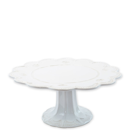 "Vietri Incanto Stone White Lace Large Cake Stand  SINC-W1173 13.5""D, 5.5""H  Classic and enchanting, the beautiful designs of VIETRI's beloved Incanto collection from plumpuddingkitchen.com evolve in a new, durable stoneware."