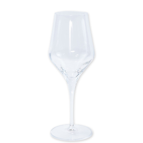 "Vietri Contessa Water Glass  CTA-CL8810 9.5""H, 11oz  The elegant and poised body of Vietri's timeless Contessa stemware from plumpuddingkitchen.com was inspired by the grace of an Italian countess, and lends itself to ease and entertaining for everyday occasions.  Handcrafted in Naples. Dishwasher safe."