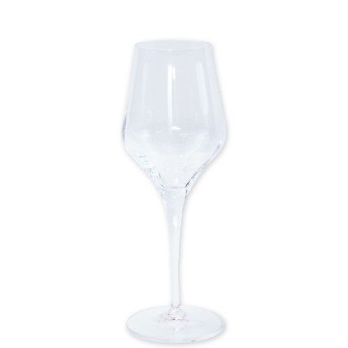 "Vietri Contessa Wine Glass  CTA-CL8820 9""H, 9oz  The elegant and poised body of Vietri's timeless Contessa stemware from plumpuddingkitchen.com was inspired by the grace of an Italian countess, and lends itself to ease and entertaining for everyday occasions.  Handcrafted in Naples. Dishwasher safe."