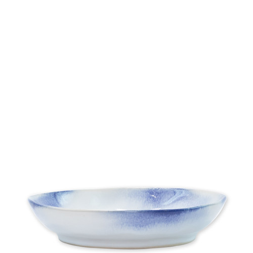 "Vietri Aurora Ocean Pasta Bowl  AOR-O1104 8.25""D, 1.74""H  Vietri's Aurora from plumpuddingkitchen.com is the unique result of a beautiful collaboration with maestro artisan, Francesco Venzo.  Splatters of white and charcoal intermingle on durable stoneware creating a subtle chicness for both the table and home.   Slight variation of each piece is to be expected due to the handcrafted nature of this collection.   Handcrafted of stoneware in Veneto.  Dishwasher, microwave, freezer and oven safe"