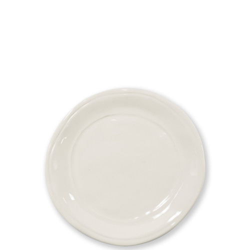 """Vietri Viva Fresh Linen Salad Plate  VFRS-2601L 8.75""""D  Perfect for appetizers on the kitchen island or in the dining room for well-dressed dinner parties, the Fresh Salad Plate from plumpuddingkitchen.com is simple and clean. Layer with your grandmother's fine china or favorites from your local boutique, either way it's a fun, playful setting."""