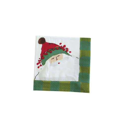 "The Old St. Nick Cocktail Napkins are finally here! Featuring Old St. Nick's jolly face and trimmed in a green check, these napkins will delight everyone this holiday season. Fits perfectly in our Old St. Nick napkin holder! Pack of 20 napkins. 9.875"" Sq OSN-1805B"