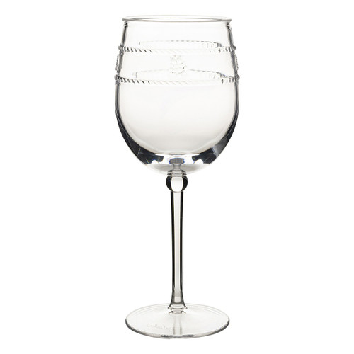 "Isabella Acrylic Wine Glass  MA305/01  From our Al Fresco Collection - Our iconic bohemian glass Isabella motif, translated in acrylic for the adventurous entertainer. This multi-purpose stemmed wine glass is ideal for taking your favorite vintage outdoors.  Measurements: 3.5""L, 3.5""W, 8.75""H Capacity: 14 oz Made of Acrylic, BPA free Imported"