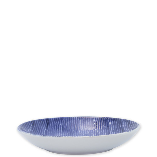 "Vietri Santorini Stripe Pasta Bowl  VSAN-003014D  9.5""D, 1.75""H  Liven up your everyday dinner parties with the playful designs of Vietri's Santorini from plumpuddingkitchen.com, inspired by a well-traveled lifestyle.   Assorted blue and white patterns make entertaining fun by recreating the beautiful mosaic tiles found in the Greek Isles.   Handmade of hard ceramic.  Dishwasher and microwave safe."