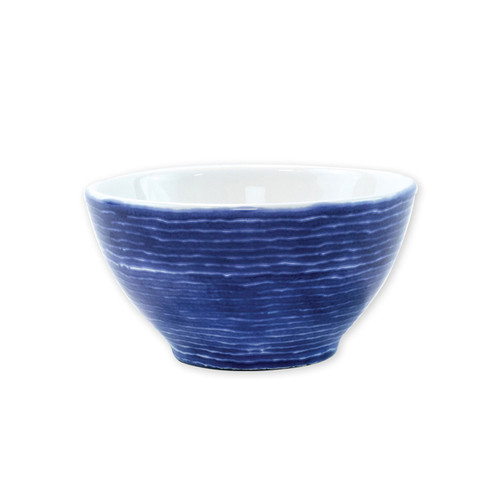 "Vietri Santorini Stripe Cereal Bowl  VSAN-003005D  6""D, 3.5""H  Liven up your everyday dinner parties with the playful designs of Vietri's Santorini from plumpuddingkitchen.com, inspired by a well-traveled lifestyle.   Assorted blue and white patterns make entertaining fun by recreating the beautiful mosaic tiles found in the Greek Isles.   Handmade of hard ceramic.  Dishwasher and microwave safe."