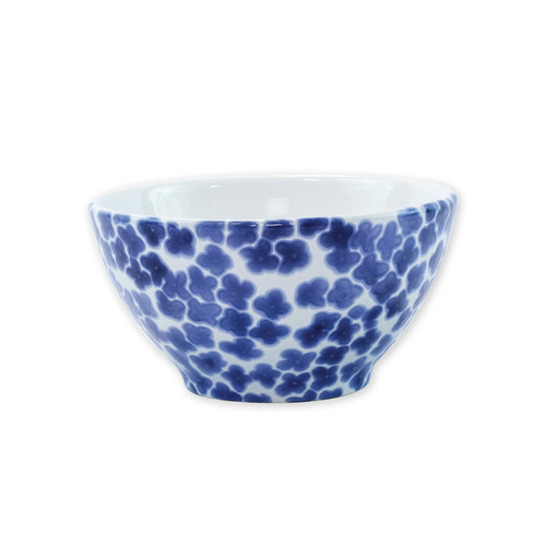 """Vietri Santorini Flower Cereal Bowl  VSAN-003005C  6""""D, 3.5""""H  Liven up your everyday dinner parties with the playful designs of Vietri's Santorini from plumpuddingkitchen.com, inspired by a well-traveled lifestyle.   Assorted blue and white patterns make entertaining fun by recreating the beautiful mosaic tiles found in the Greek Isles.   Handmade of hard ceramic.  Dishwasher and microwave safe."""