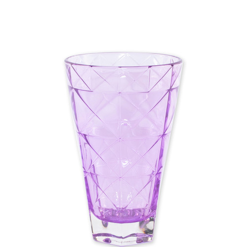 "Viva Vietri Prism Purple Tall Tumbler  VPRM-8838PU 5.75""H, 14oz  Mix and match the Prism Glass from plumpuddingkitchen.com for bridal shower brunches, surprise engagements, or wine nights with your favorite girls."