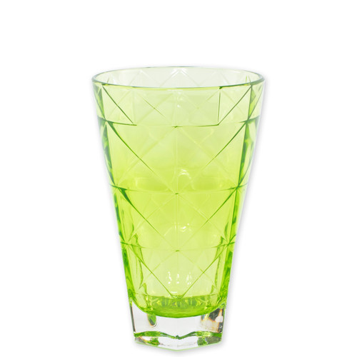 """Viva Vietri Prism Green Tall Tumbler  VPRM-8838GR 5.75""""H, 14oz  Mix and match the Prism Glass from plumpuddingkitchen.com for bridal shower brunches, surprise engagements, or wine nights with your favorite girls."""