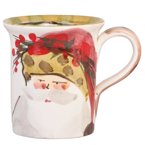 "The Old St. Nick Animal Hat Mug features a handpainted design by maestro artisan Alessandro Taddei. 4.5""H, 14oz OSN-7810C"