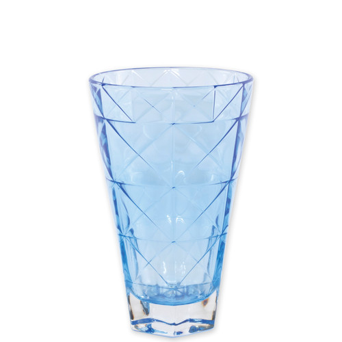 "Viva Vietri Prism Cobalt Tall Tumbler  VPRM-8838C 5.75""H, 14oz  Mix and match the Prism Glass from plumpuddingkitchen.com for bridal shower brunches, surprise engagements, or wine nights with your favorite girls."