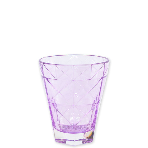 """Viva Vietri Prism Purple Short Tumbler  VPRM-8837PU 4.25""""H, 10oz  Mix and match the Prism Glass from plumpuddingkitchen.com for bridal shower brunches, surprise engagements, or wine nights with your favorite girls."""