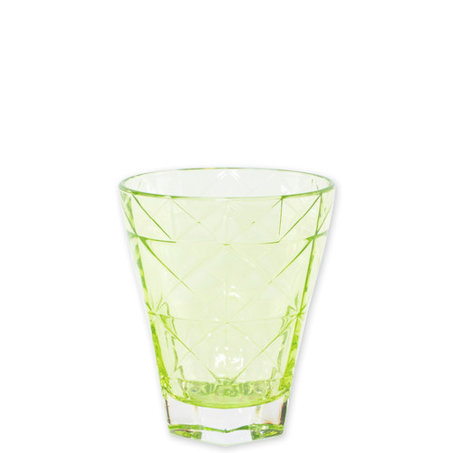 "Viva Vietri Prism Green Short Tumbler  VPRM-8837GR 4.25""H, 10oz  Mix and match the Prism Glass from plumpuddingkitchen.com for bridal shower brunches, surprise engagements, or wine nights with your favorite girls."