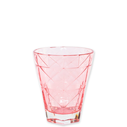 """Viva Vietri Prism Pink Short Tumbler  VPRM-8837PI 4.25""""H, 10oz  Mix and match the Prism Glass from plumpuddingkitchen.com for bridal shower brunches, surprise engagements, or wine nights with your favorite girls."""