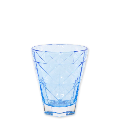 """Viva Vietri Prism Cobalt Short Tumbler  VPRM-8837C 4.25""""H, 10oz  Mix and match the Prism Glass from plumpuddingkitchen.com for bridal shower brunches, surprise engagements, or wine nights with your favorite girls."""