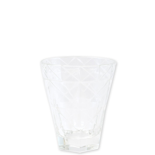 """Viva Vietri Prism Clear Short Tumbler  VPRM-8837CL 4.25""""H, 10oz  Mix and match the Prism Glass from plumpuddingkitchen.com for bridal shower brunches, surprise engagements, or wine nights with your favorite girls."""