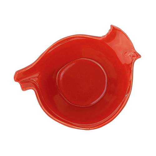 "Vietri Lastra Holiday Figural Red Bird Medium Bowl  LAH-26021C 11""L, 7.75""W, 3.5""H  Make time for your loved ones this season when you gather around the cheerful design of Vietri's Lastra Holiday from plumpuddingkitchen.com.  Handcrafted of Italian stoneware in Tuscany.    Dishwasher, microwave, freezer and oven safe."