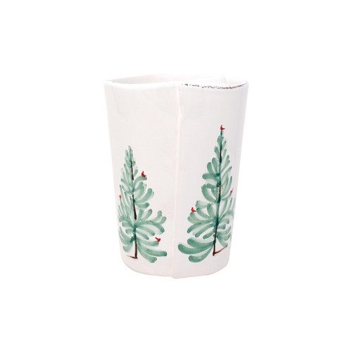 "Vietri Lastra Holiday Utensil Holder  LAH-2681 5.5""D, 6.5""H  Make time for your loved ones this season when you gather around the cheerful design of Vietri's Lastra Holiday from plumpuddingkitchen.com.  Handcrafted of Italian stoneware in Tuscany.    Dishwasher, microwave, freezer and oven safe."