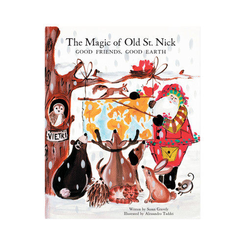 """Vietri The Magic of Old St Nick: Good Friends, Good Earth Children's Book OSN-37002  """"Old St. Nick The Magic of Old St. Nick: Good Friends, Good Earth Children's Book from plumpuddingkitchen.com 