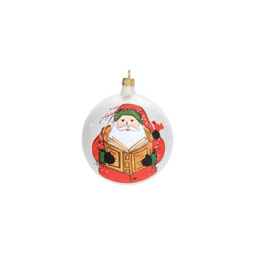 "Vietri Old St Nick Reading Christmas Ornament  OSN-2721 4""D"