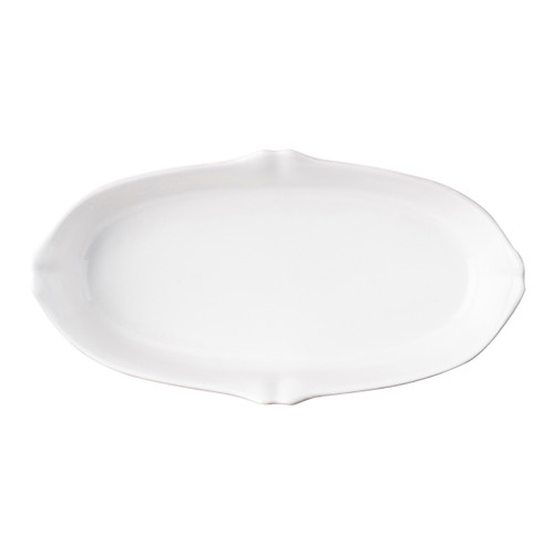 "Juliska Berry & Thread Whitewash 12"" Oblong Serving Dish JA69/W 12""L, 6.25""W, 2.25""H, 24oz From Juliska's Berry & Thread Collection- Rimmed with a simple thread and adorned with a sprinkling of berries, this iconic dinnerware collection embraces the historic motifs of our Bohemian glassware. This 12"" oblong, oval serving dish features high sides, subtle scallop detail and is ideal for carrying side dishes straight from oven-to-table."