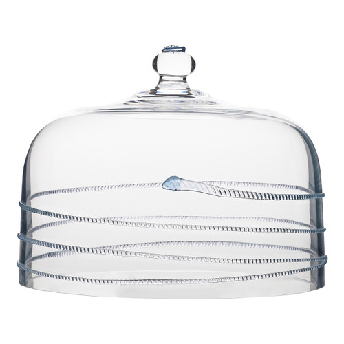 """Juliska Amalia Cake Dome B135XA/C 10.75""""L, 10.75""""W, 8.5""""H  From Juliska's Amalia Collection - Featuring our iconic spiral threaded design and signature berry, this Bohemian glass cake dome provides the perfect canopy for a wide variety of sweets and treats."""