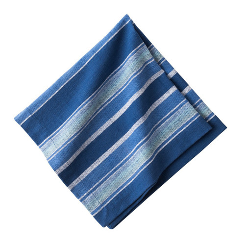 """Juliska Indigo Stripe Napkin  LB60/046 20"""" Sq  Our Indigo stripe Napkin is hand-loomed with our favorite hues of blue making this a perfect complement to your table."""