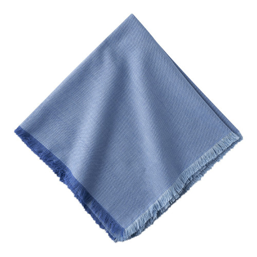 "Juliska Essex Chambray Napkin Set/4 LB77/88 20"" Sq  A timeless neutral, our Essex Chambray napkins are textural with a subtle cross weave effect.  100% cotton.  Machine wash cold, gentle cycle. Tumble dry low, warm iron as needed."