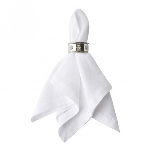 Juliska Berry & Thread Metal Napkin Ring LR10/57  From our Berry & Thread Collection- Add gleaming accent to your table with this tailored napkin ring that lends a splash of subtle sparkle to any occasion, be it a casual weekend brunch or upscale dinner party.