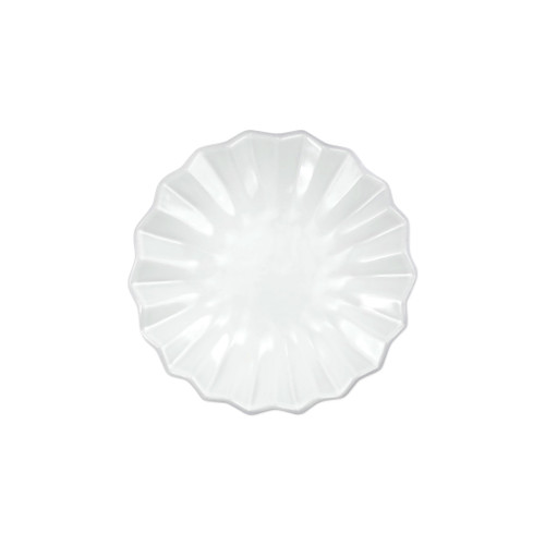 """Vietri Incanto Pleated Canape Plate  INC-1119PL 6.25""""D The Incanto White Pleated Canape Plate from plumpuddingkitchen.com will create a unique setting on your table. Mix and match with other Incanto designs to create a layered and dynamic look."""