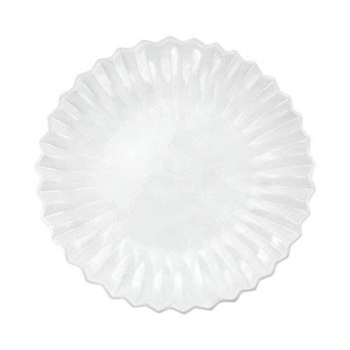 "Vietri Incanto Pleated American Dinner Plate  INC-1100PL 11.5""D  The Incanto White Pleated European Dinner Plate from plumpuddingkitchen.com will create a unique setting on your table. Mix and match with other Incanto designs to create a layered and dynamic look."