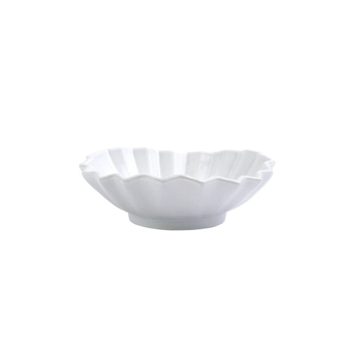 """Vietri Incanto Pleated Berry Bowl  INC-11003 6""""D, 1.75""""H  The Incanto White Pleated Berry Bowl from plumpuddingkitchen.com will create a unique setting on your table. Mix and match with other Incanto designs to create a layered and dynamic look."""