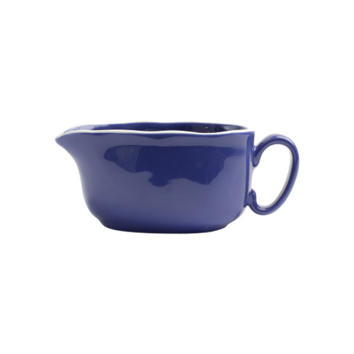 "Vietri Viva Chroma Blue Gravy Boat  VCRM-B003043 7.5""L, 3.5""W, 3""H Simple lines, clean design.  Vietri's Chroma is defined by its purity of color and smooth shapes making it the perfect backdrop for your monthly dinner parties or casual nights in with the family.  Handpainted on hard ceramic in Portugal.  Dishwasher & Microwave safe."
