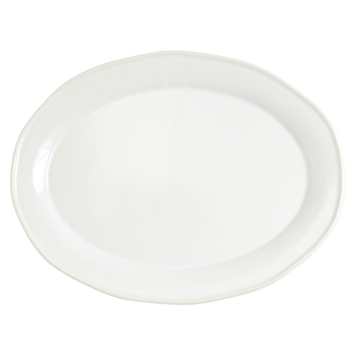 """Vietri Viva Chroma Blue Oval Platter  VCRM-B003025 16""""L, 11.75""""W  Simple lines, clean design.  Vietri's Chroma is defined by its purity of color and smooth shapes making it the perfect backdrop for your monthly dinner parties or casual nights in with the family.  Handpainted on hard ceramic in Portugal.  Dishwasher & Microwave safe."""