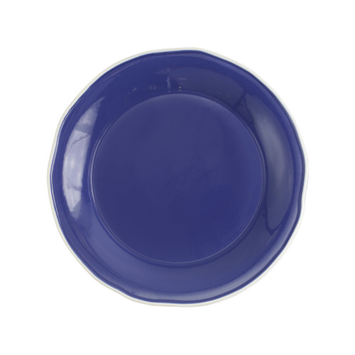 "Vietri Viva Chroma Blue Round Platter  VCRM-B003022 12.5""D  Simple lines, clean design.  Vietri's Chroma is defined by its purity of color and smooth shapes making it the perfect backdrop for your monthly dinner parties or casual nights in with the family.  Handpainted on hard ceramic in Portugal.  Dishwasher & Microwave safe."