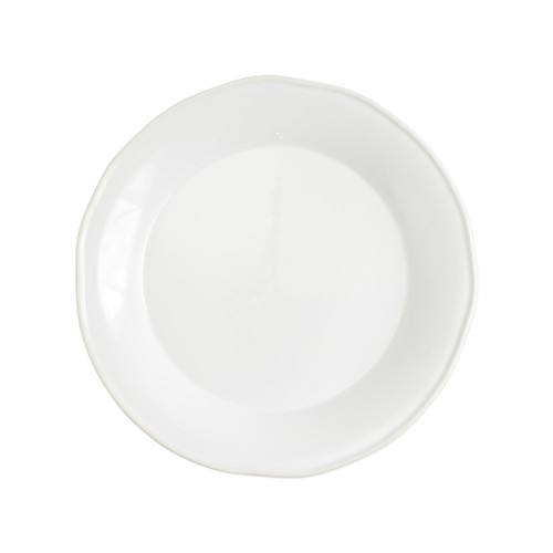 "Vietri Viva Chroma White Round Platter  VCRM-W003022 12.5""D  Simple lines, clean design.  Vietri's Chroma is defined by its purity of color and smooth shapes making it the perfect backdrop for your monthly dinner parties or casual nights in with the family.  Handpainted on hard ceramic in Portugal.  Dishwasher & Microwave safe."