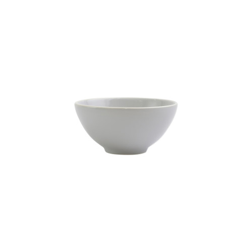 "Vietri Viva Chroma Light Gray Condiment Bowl  VCRM-LG003003 5""D, 2.5""H  Simple lines, clean design.  Vietri's Chroma is defined by its purity of color and smooth shapes making it the perfect backdrop for your monthly dinner parties or casual nights in with the family.  Handpainted on hard ceramic in Portugal.  Dishwasher & Microwave safe."