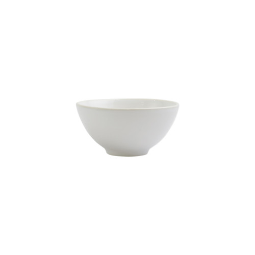"Vietri Viva Chroma White Condiment Bowl  VCRM-W003003 5""D, 2.5""H  Simple lines, clean design.  Vietri's Chroma is defined by its purity of color and smooth shapes making it the perfect backdrop for your monthly dinner parties or casual nights in with the family.  Handpainted on hard ceramic in Portugal.  Dishwasher & Microwave safe."