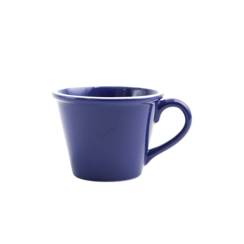 "Vietri Viva Chroma Blue Mug  VCRM-B003010 4.5""H  Simple lines, clean design.  Vietri's Chroma is defined by its purity of color and smooth shapes making it the perfect backdrop for your monthly dinner parties or casual nights in with the family.  Handpainted on hard ceramic in Portugal.  Dishwasher & Microwave safe."