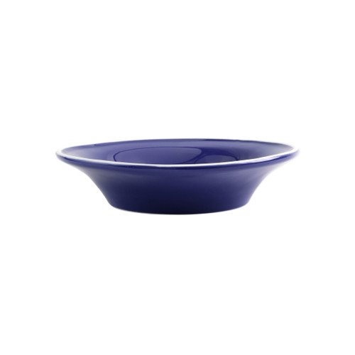 "Vietri Viva Chroma Blue Pasta Bowl  VCRM-B003004 9""D, 2""H  Simple lines, clean design.  Vietri's Chroma is defined by its purity of color and smooth shapes making it the perfect backdrop for your monthly dinner parties or casual nights in with the family.  Handpainted on hard ceramic in Portugal.  Dishwasher & Microwave safe."