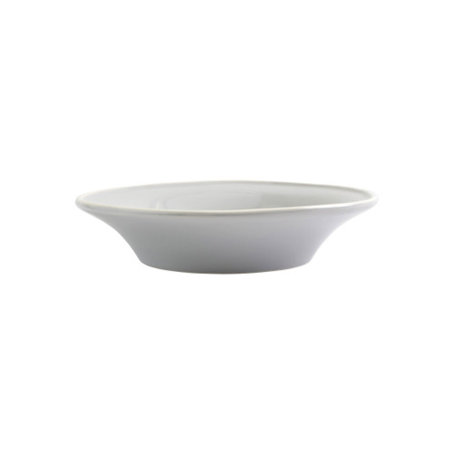 "Vietri Viva Chroma Light Gray Pasta Bowl  VCRM-LG003004 9""D, 2""H  Simple lines, clean design.  Vietri's Chroma is defined by its purity of color and smooth shapes making it the perfect backdrop for your monthly dinner parties or casual nights in with the family.  Handpainted on hard ceramic in Portugal.  Dishwasher & Microwave safe."