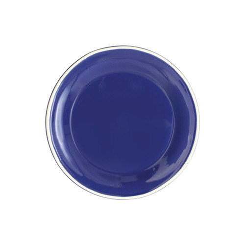"Vietri Viva Chroma Blue Salad Plate  VCRM-B003001 8.5""D  Simple lines, clean design.  Vietri's Chroma is defined by its purity of color and smooth shapes making it the perfect backdrop for your monthly dinner parties or casual nights in with the family.  Handpainted on hard ceramic in Portugal.  Dishwasher & Microwave safe."
