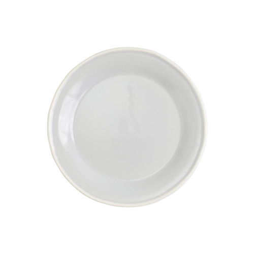 "Vietri Viva Chroma Light Gray Salad Plate  VCRM-LG003001 8.5""D  Simple lines, clean design.  Vietri's Chroma is defined by its purity of color and smooth shapes making it the perfect backdrop for your monthly dinner parties or casual nights in with the family.  Handpainted on hard ceramic in Portugal.  Dishwasher & Microwave safe"