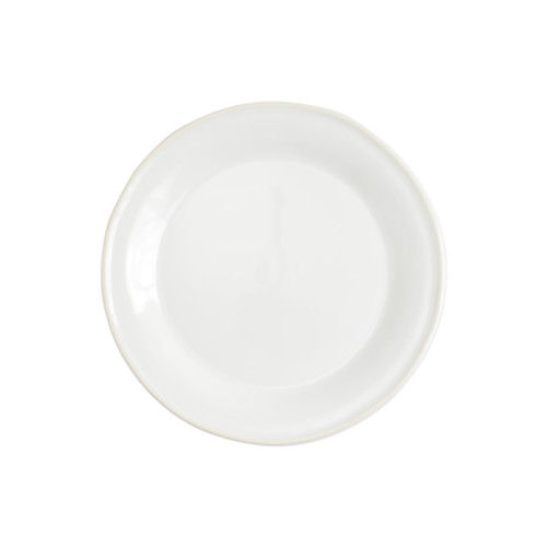"Vietri Viva Chroma White Salad Plate  VCRM-W003001 8.5""D  Simple lines, clean design.  Vietri's Chroma is defined by its purity of color and smooth shapes making it the perfect backdrop for your monthly dinner parties or casual nights in with the family.  Handpainted on hard ceramic in Portugal.  Dishwasher & Microwave safe."