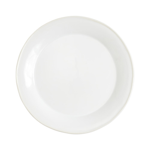 "Vietri Viva Chroma White Dinner Plate  VCRM-W003000 20.5""D  Simple lines, clean design.  Vietri's Chroma is defined by its purity of color and smooth shapes making it the perfect backdrop for your monthly dinner parties or casual nights in with the family.  Handpainted on hard ceramic in Portugal.  Dishwasher & Microwave safe."