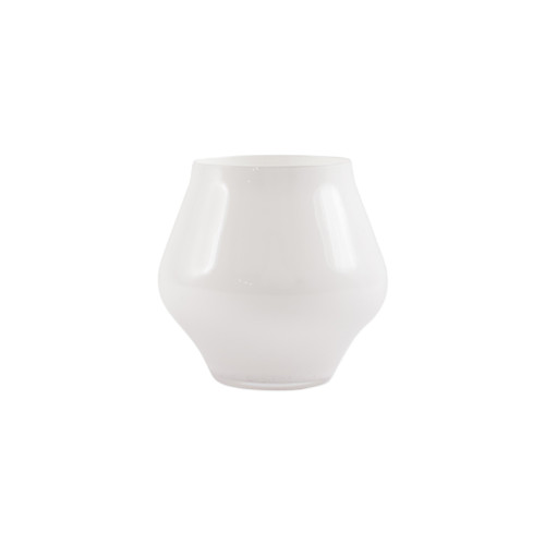 """Vietri White Contessa Stemless Wine Glass  CTA-W8821 4""""H, 10oz  The elegant and poised body of Vietri's timeless Contessa stemware from plumpuddingkitchen.com was inspired by the grace of an Italian countess, and lends itself to ease and entertaining for everyday occasions.  Handcrafted in Naples. Dishwasher safe."""